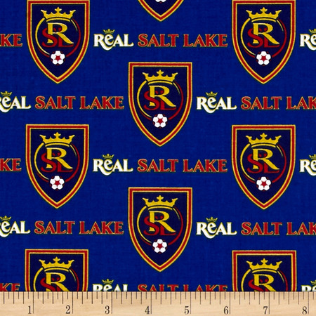 MLS Cotton Broadcloth Salt Lake Real Blue Fabric By The Yard