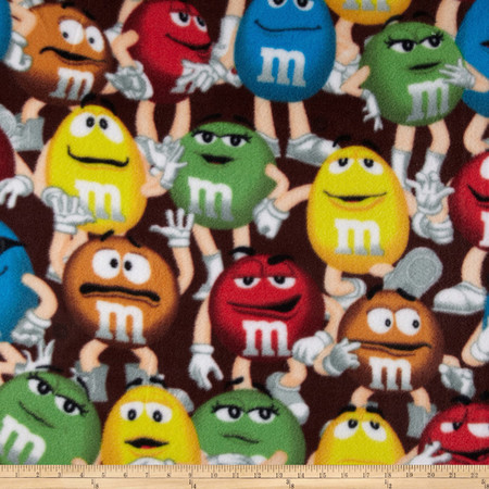 M & M Fleece Funfetti Packed Multi Fabric By The Yard
