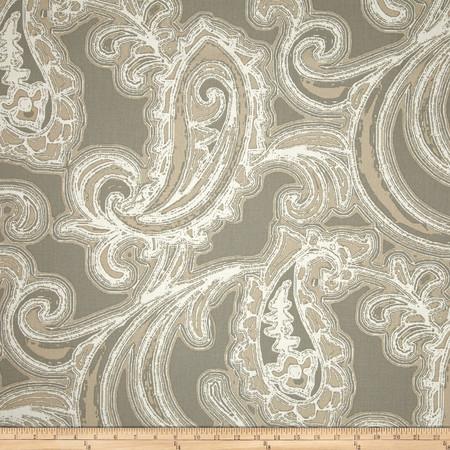 Magnolia Home Fashions Bridgewater Paisley Slate Fabric By The Yard