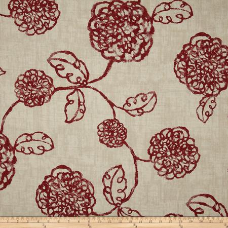 Magnolia Home Fashions Adele Crimson Fabric By The Yard
