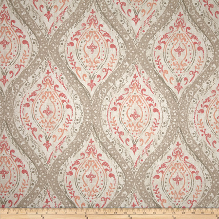 Magnolia Home Fashions Arlana Coral Fabric By The Yard