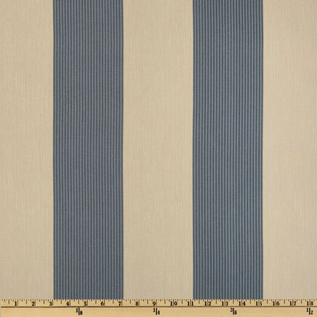 Magnolia Home Fashions Belle Isle Stripe Yacht Blue Fabric By The Yard