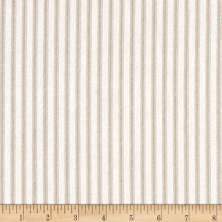 Magnolia Home Fashions Berling Ticking Stripe Sand Fabric By The Yard