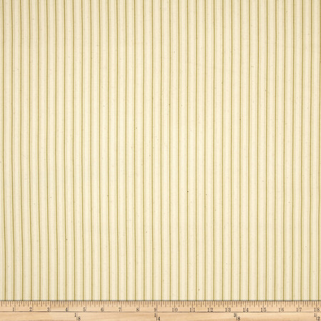 Magnolia Home Cottage Stripe Sage Fabric