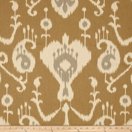 Magnolia Home Fashions Java Ikat Umber Fabric By The Yard