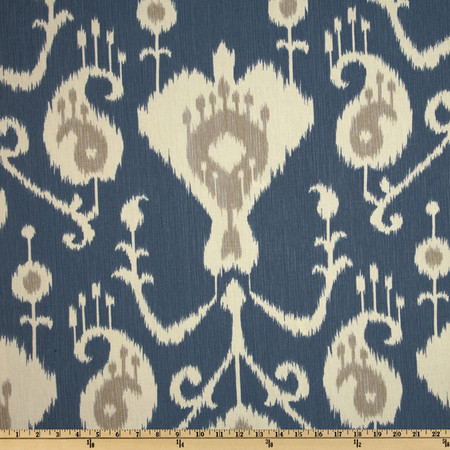 Magnolia Home Fashions Java Ikat Yacht Blue Fabric By The Yard