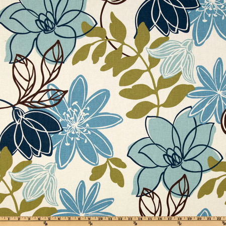 Magnolia Home Fashions Monaco Breeze Fabric By The Yard