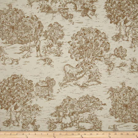 Magnolia Home Quaker Toile Driftwood Brown Fabric