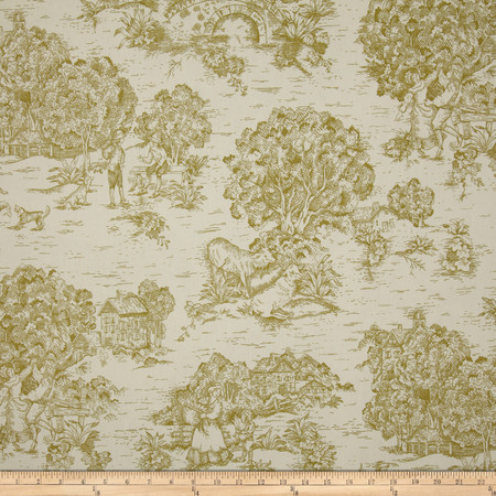 Magnolia Home Fashions Quaker Toile Meadow Fabric By The Yard