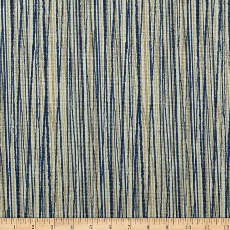 Magnolia Home Fashions Laurel Bay Stripe Cove Blue Fabric By The Yard