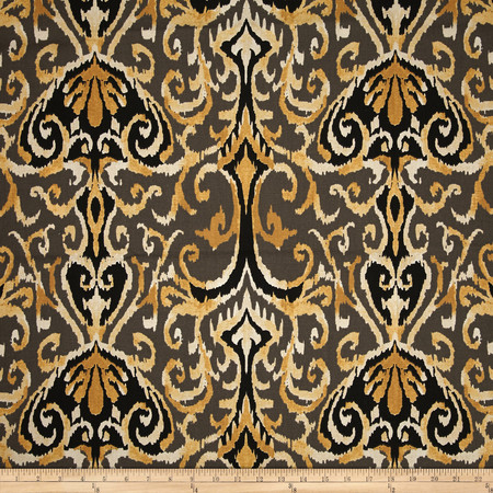 Magnolia Home Fashions Fashions Winchester Ikat Honey Fabric By The Yard