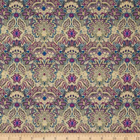 Marrakesh Metallic Floral Multi Fabric