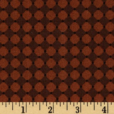 Mary Engelbreit Flutterby Harlequin & Dot Dark Brown Fabric