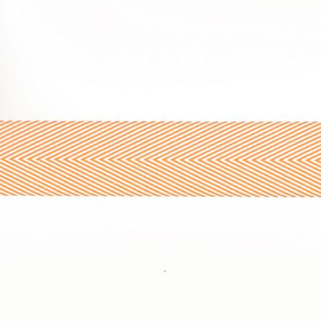 May Arts 1 1/2'' Chevron Twill Ribbon Spool Orange