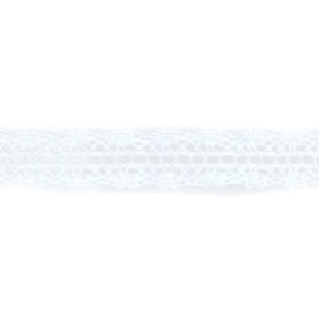 May Arts 5/8'' Crochet Lace Ribbon Spool White