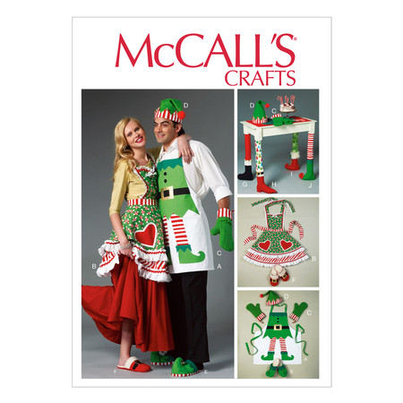 McCall's Aprons Oven Mitts Hat Slippers and Table Leg Decorations Pattern M6860 Size OSZ