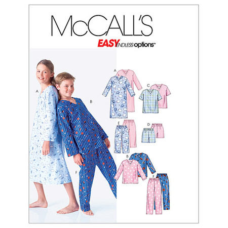 McCall's Boys'/Girls' Shirt Tops Shorts and Pants Pattern M6227 Size CHH
