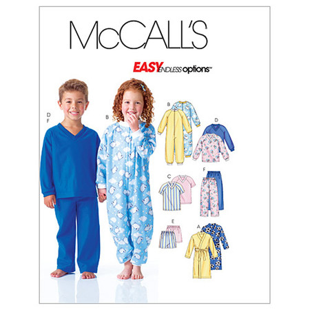 McCall's Children's Robe Top Shorts and Pants Pattern M6224 Size CB0