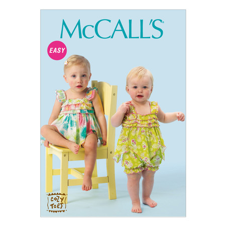 McCall's Infants' Rompers Pattern M6942 Size YA5