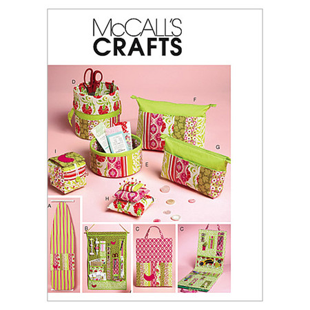 McCall's Ironing Board Cover Organizers Zip Case In 2 Sizes and Pin Cushions Pattern M6374 Size OSZ