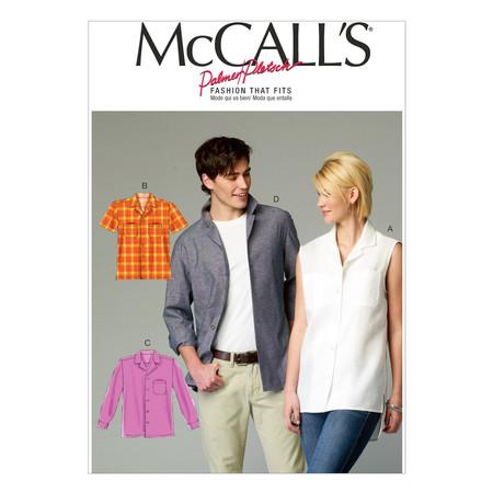 McCall's Misses'/Men's Shirts Pattern M6932 Size XM0