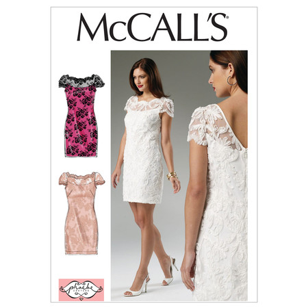 McCall's Misses' Lined Dress Pattern M6505 Size A50