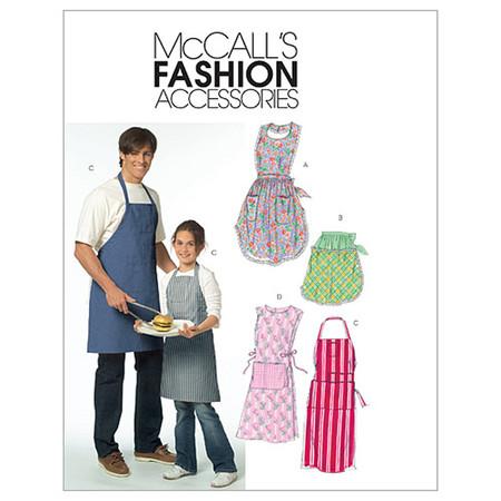 McCall's Misses'/ Men's/ Children's/ Boys'/ Girls' Aprons Pattern M5551 Size OSZ