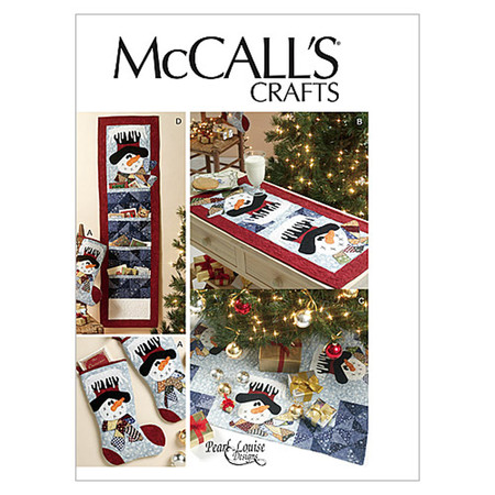 McCall's Stocking Runner Tree Skirt and Card Holder Pattern M6454 Size OSZ
