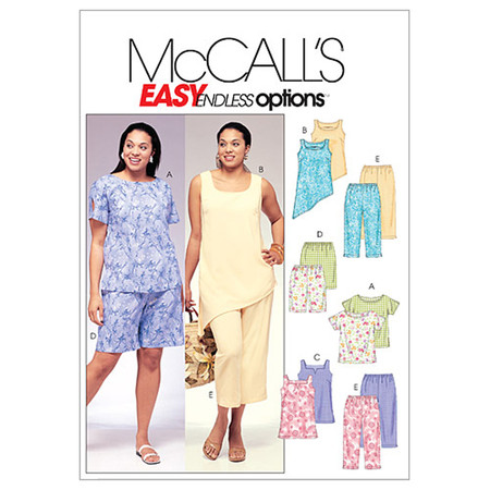 McCall's Women's Top Tunics Shorts & Capri Pants Pattern M4097 Size KK0