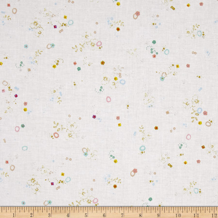 Meadow Storm Misty White Fabric By The Yard