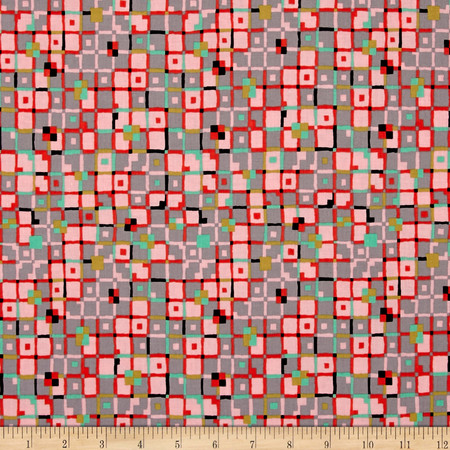 Meadow Storm Overcast Pink Fabric By The Yard