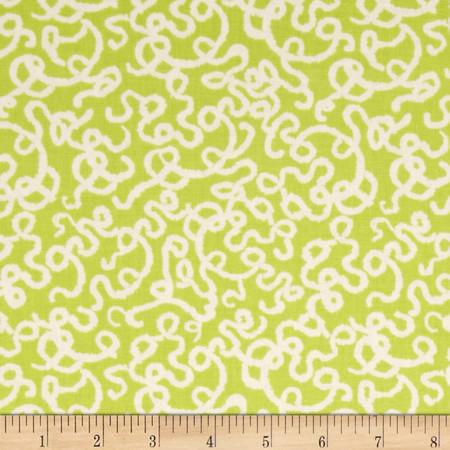 Memory Lane Doodle Green Fabric