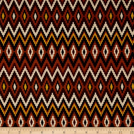 Mesa Verde Aztec Chevron Mocha Fabric By The Yard