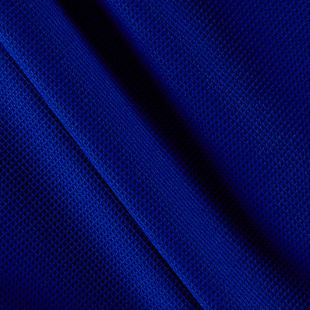 Mesh Spandex Knit Admiral Blue Fabric By The Yard
