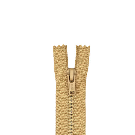 Metal All Purpose Zipper 7'' Camel