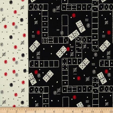 Michael Miller Classic Games Domino Effect Cherry Fabric