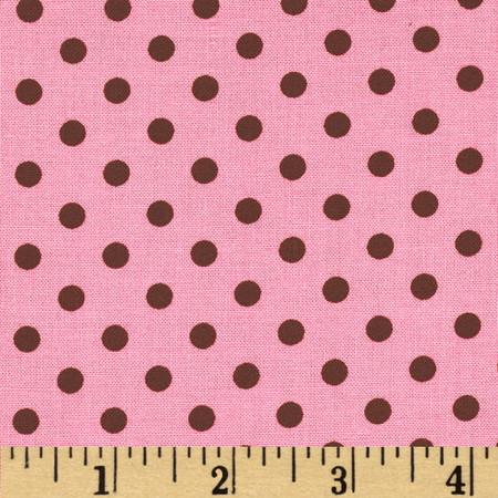 Michael Miller Dumb Dot Pink Fabric
