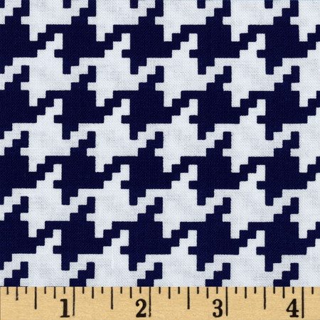 Michael Miller Everyday Houndstooth Navy Fabric