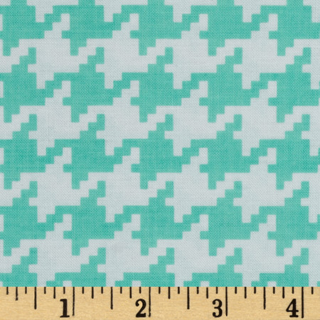 Michael Miller Everyday Houndstooth Seafoam Fabric By The Yard