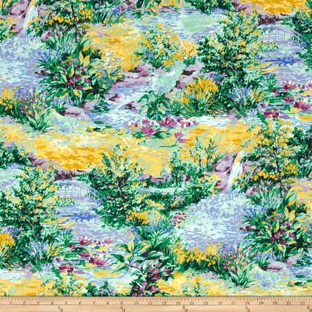 Michael Miller Florals Water Garden Green Fabric