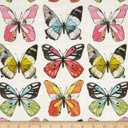 Michael Miller Flutter Fly White Fabric