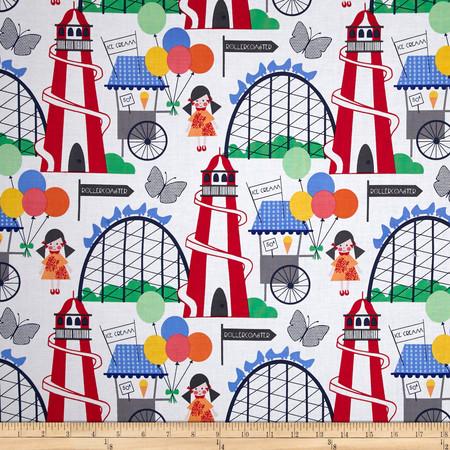 Michael Miller Funfair Funfair Primary Fabric By The Yard