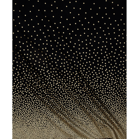 Michael Miller Glitz Metallic Confetti Border Pearlized Black/Bronze Fabric By The Yard