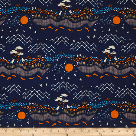 Michael Miller House of Hoppington Honey Hill Blueberry Fabric By The Yard