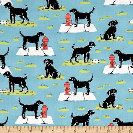 Michael Miller Ike & Oona Ike Aqua Fabric By The Yard