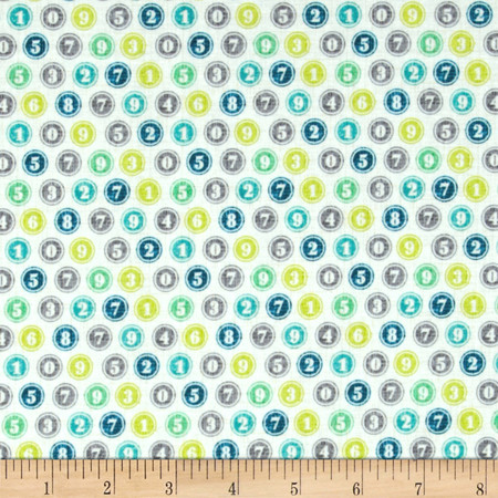 Michael Miller Just My Type Color Keys Breeze Fabric