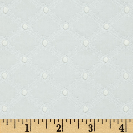 Michael Miller Lattice Cotton Eyelet White Fabric