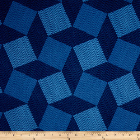 Michael Miller Luxe 108'' Wide Back Tumble Blocks Midnight Fabric By The Yard