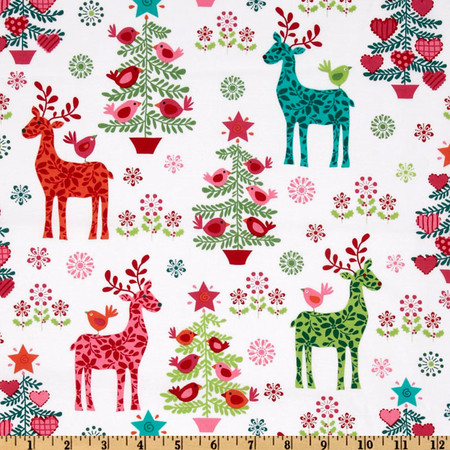 Michael Miller Nordic Holiday Nordic Holiday Multi Fabric By The Yard