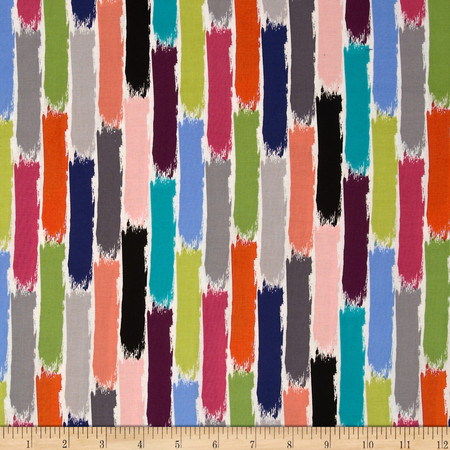 Michael Miller Paint Brush Stroke Brite Fabric By The Yard